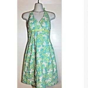 Lilly Pulitzer Butterfly Halter Sundress Sz 2